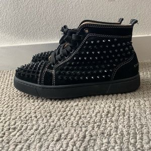 Black Suede Christian Louboutin Sneakers w Spikes